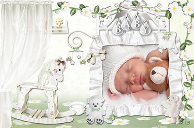 Детские рамки для новорожденных онлайн вставить фото, Малыш