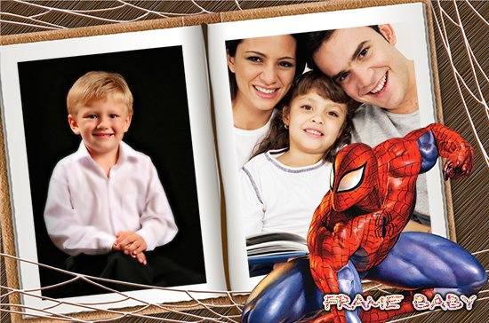 Макет фотокниги человек паук